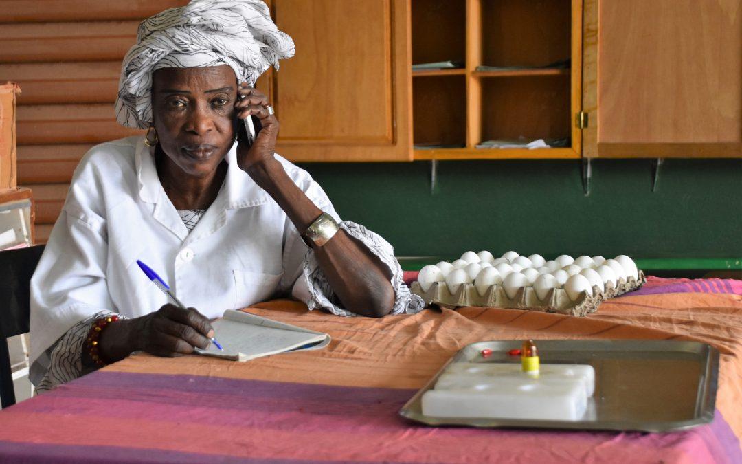 Jenniba Traore Midwife at CSCom Lab5