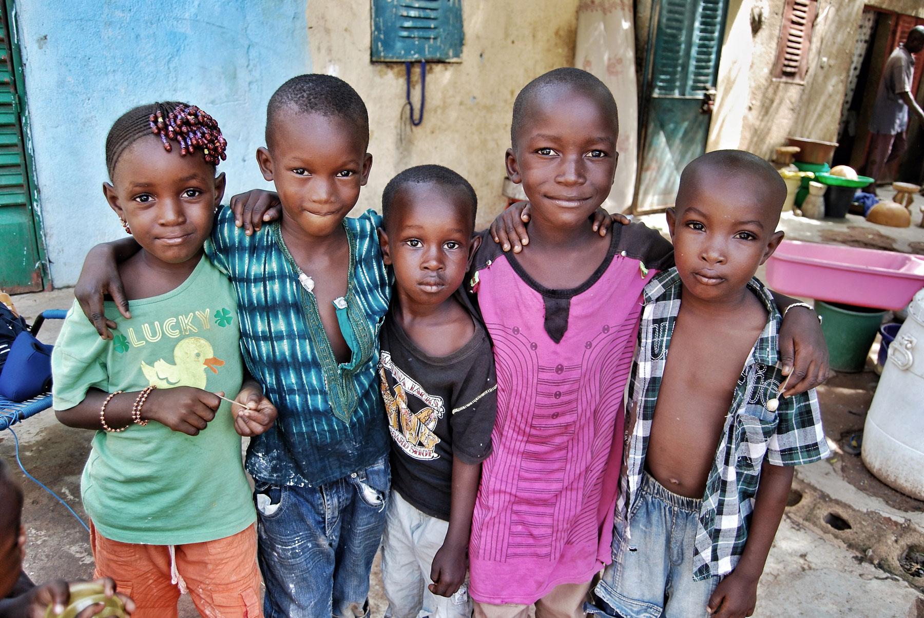Five children in Bamako